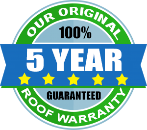 5 Year Roof Cleaning Warranty